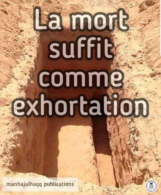 La mort suffit comme exhortation...