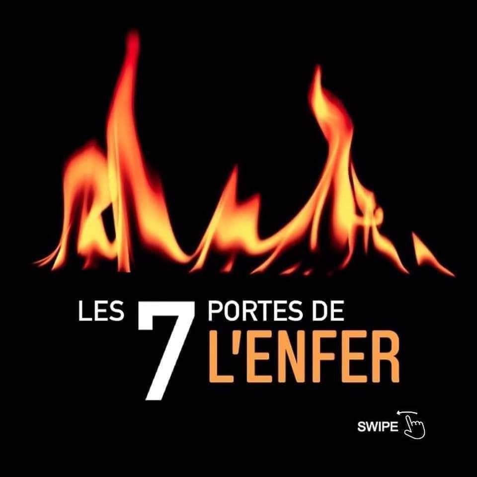 Les 7 portes de l'enfer qu'Allah nous protège de l'enfer