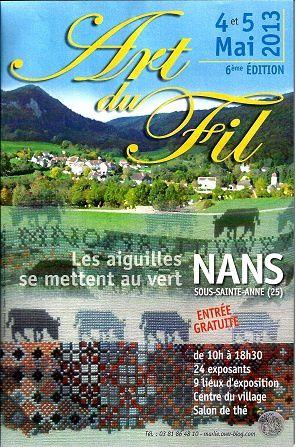 Art du Fil, à Nans sous Sainte Anne, Doubs, les 4 et 5 mai 2013
