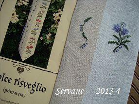 Servane, de jolies fleurs bleues... et Thérèse a fini son ABCDaire, bravo !