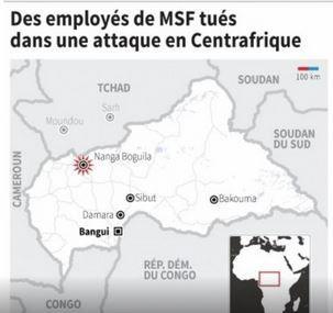 Attacco Centrale, che ha ucciso 22 operatori di MSF