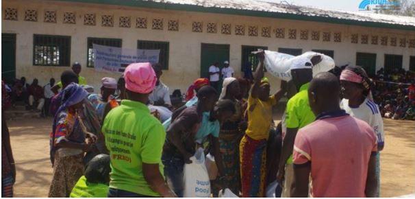 Centrafrique: le PAM apporte des vivres aux déplacés de Paoua
