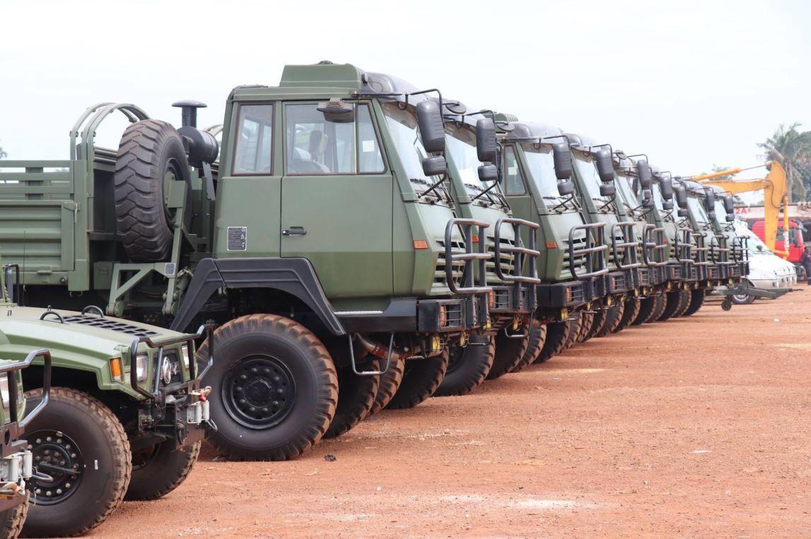 L'armée centrafricaine reçoit des véhicules offerts par la Chine et les USA