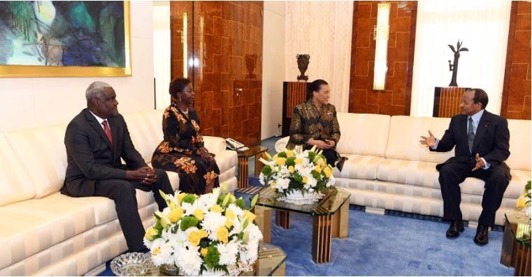 Le président de la Commission de l'UA en séjour au Cameroun