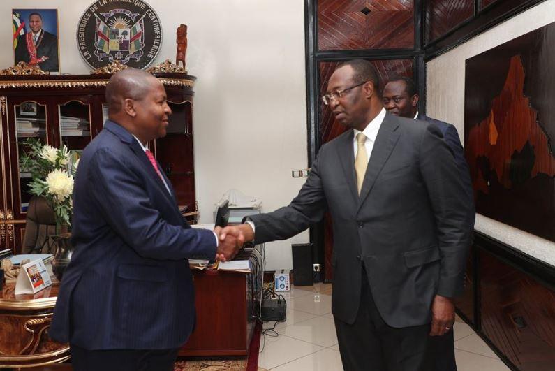 Le Président TOUADERA a reçu certains anciens Premiers Ministres