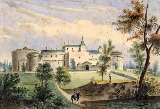 Vue du château de Ham. 1830