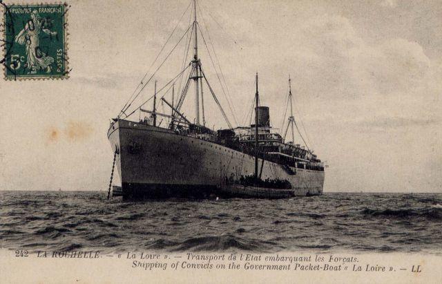 """Dossier 4 : """"La Loire"""" navire de transport des forçats"""