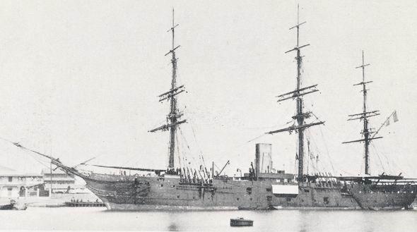 """Le Calvados était un navire trois-mâts à coque en bois. Sa capacité était de 400 passagers et 352 chevaux, répartis entre le Spardeck (92), le faux-pont (174), et la cale (96). Les chevaux étaient """"logés"""" dans deux des faux-ponts, et disposaient chacun de 60cm de largeur d'espace vital."""