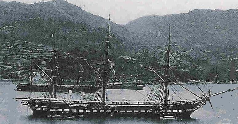 La Guerrière est une frégate mixte ... transformée en transport de troupes, mise en service en 1860 et prévue pour le transport de déportés vers la Guyane
