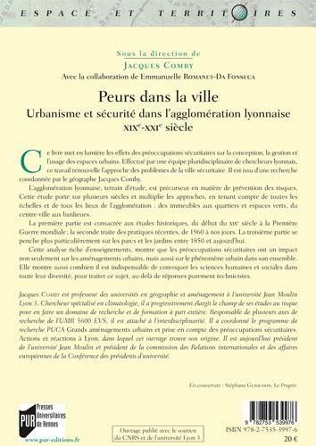 Peurs dans la ville - Urbanisme et sécurité dans l'agglomération lyonnaise, XIXe-XXIe siècle