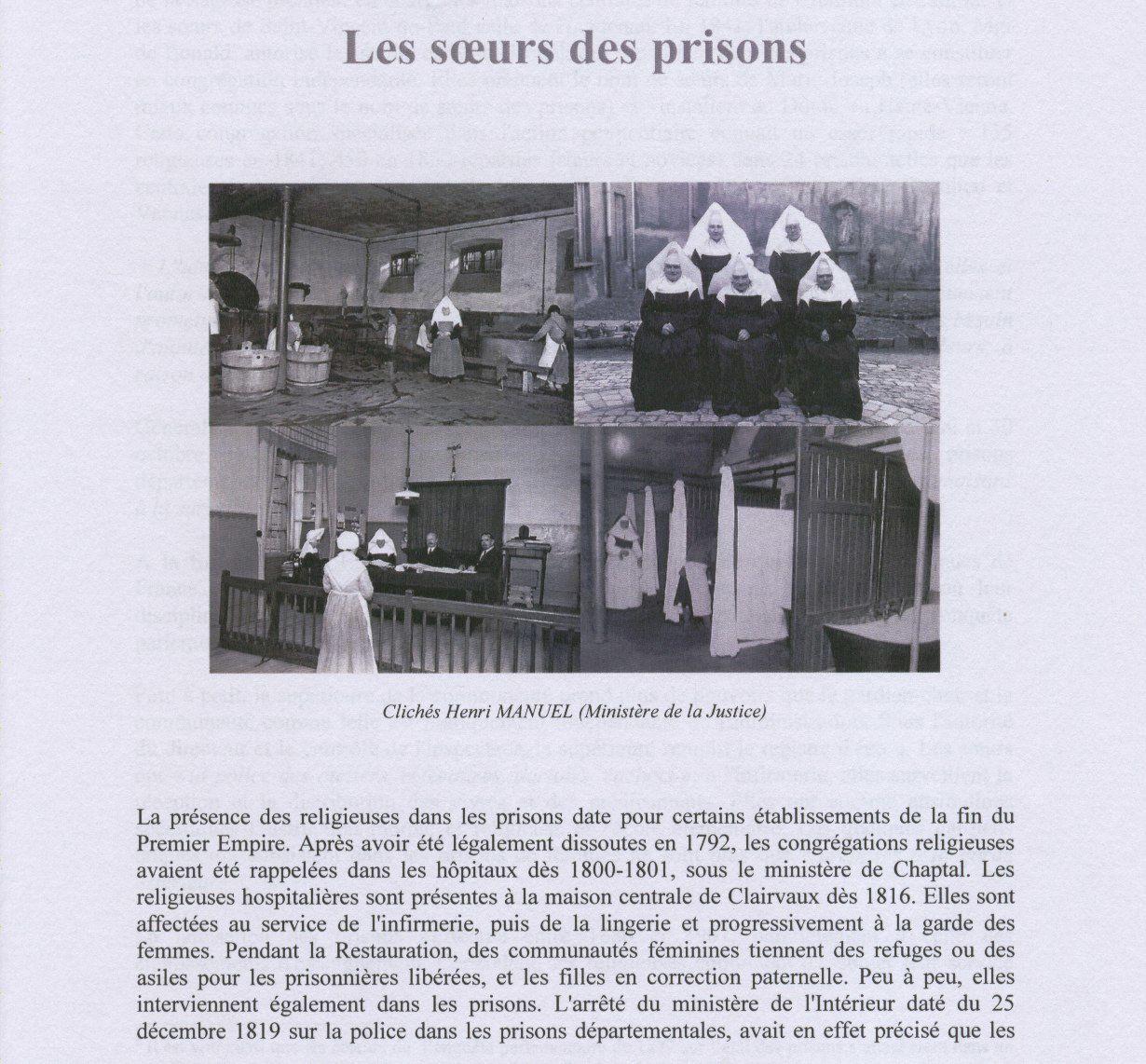Les soeurs des prisons - repères historiques