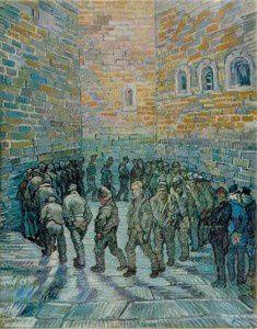 VINCENT VAN GOGH. 1853-1890 Huile sur toile. 73×91 cm. Ecole hollandaise. La Ronde des prisonniers. 1890. Huile sur toile. 80×64 cm. -