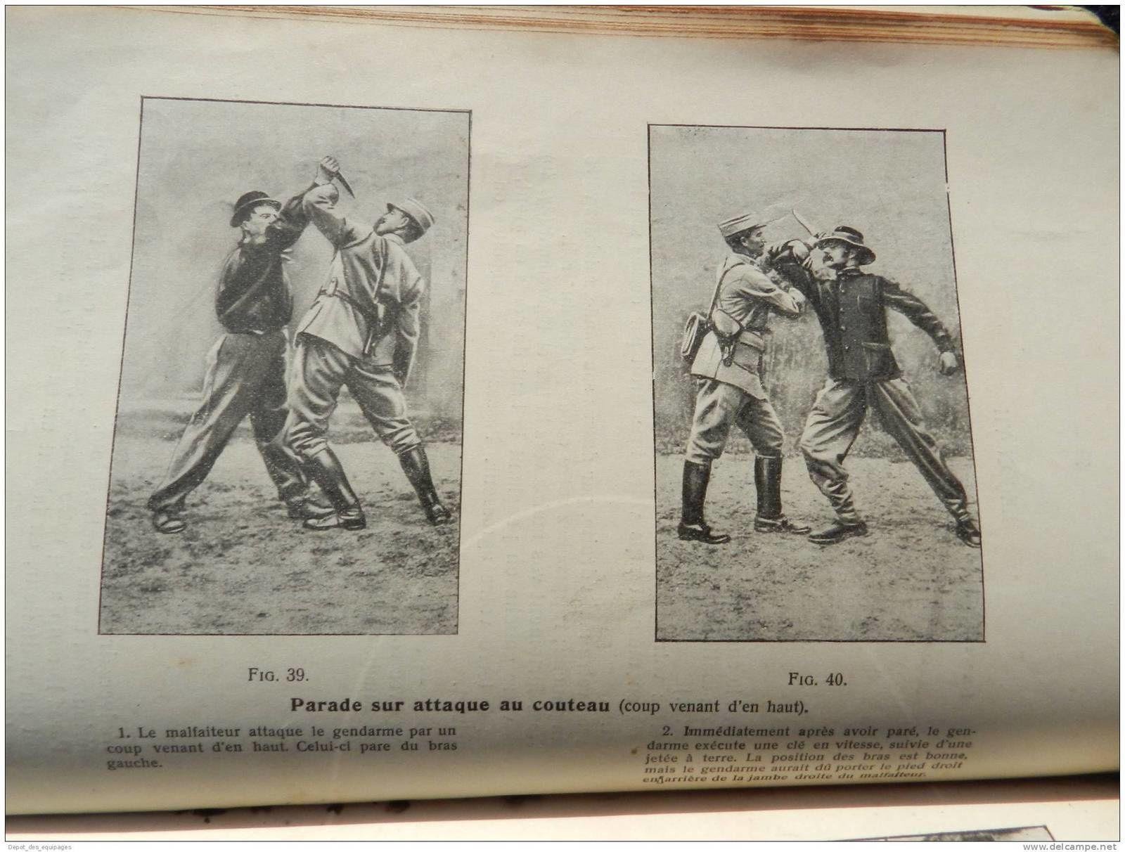 Trés rare manuel gendarmerie de 1919 , MANUEL DES EXERCICES PHYSIQUES SPECIAUX A L'USAGE DE LA GENDARMERIE , techniques de combats corps à corps, défense ...