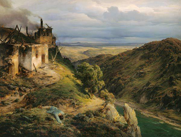 """paysage"", Carl Friedrich Lessing"