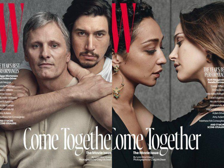 La couverture du magazine W