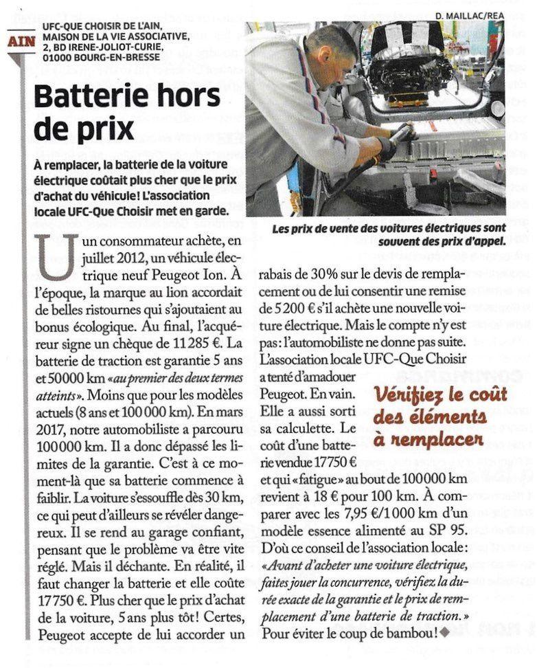 Remplacer la batterie d'une électrique coûte plus cher que le prix d'achat du véhicule !