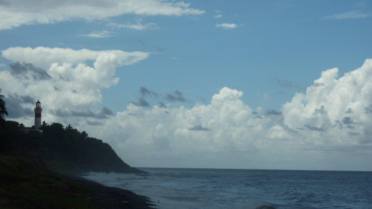 Le seul phare de l'ile, à Sainte Suzanne