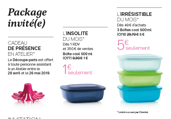 Package invité(e) de mai