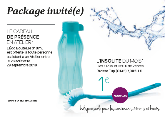 Package invité(e) de septembre 2019
