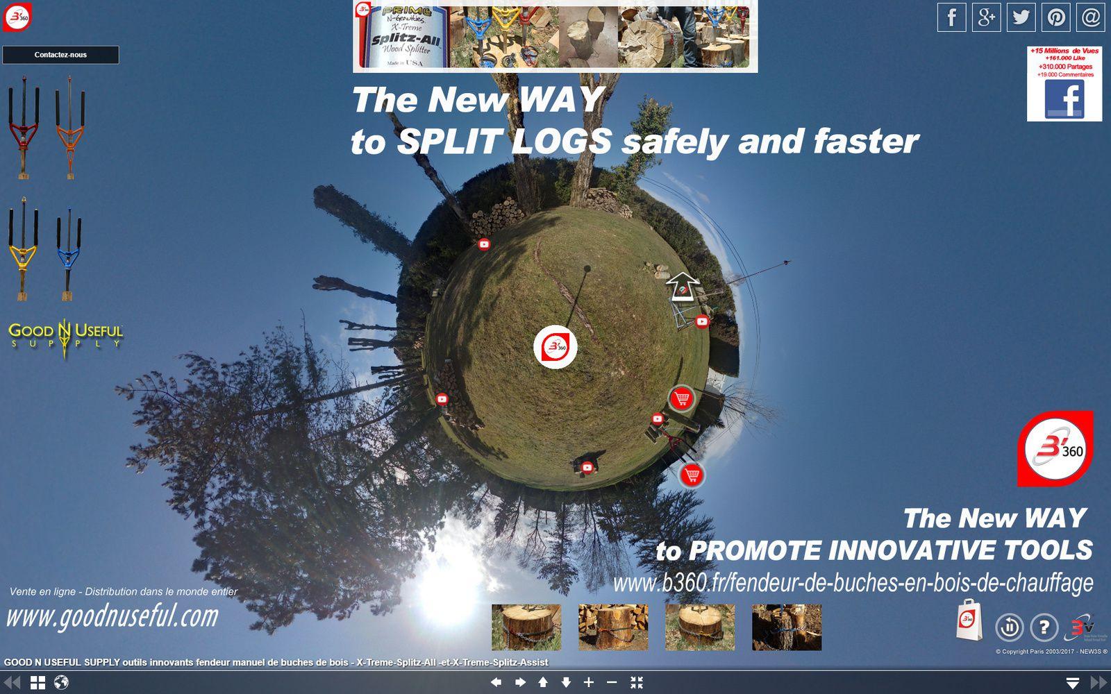 B'360 : Voici B'360* la 1ère Solution de Médias Immersifs à 360° riches & référencés** Une solution Web-to-Store qui transpose un lieu jusqu'à vous