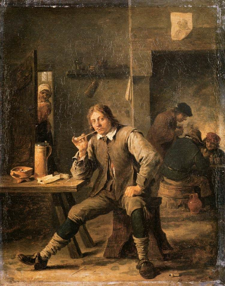 Vous lisez quoi en ce moment? - Page 5 Ob_55780e_teniers-smoker-leaning-his-elbow-on
