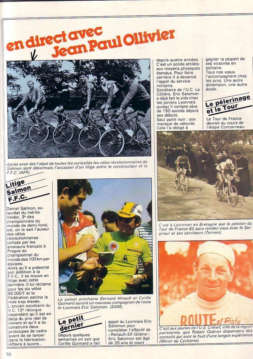 """Vélo """"Révolutionnaire"""" D.Salmon 1981."""