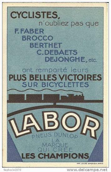 Vélo LABOR - Dunlop 1934.