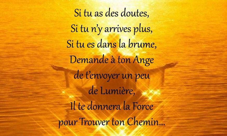 PENSÉE DU JOUR D'INVOCATION AUX ANGES!!!