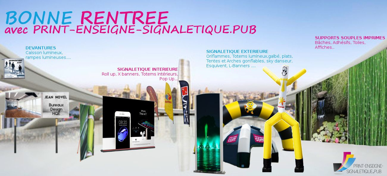 print enseigne signaletique support de communication professionnelle grand format