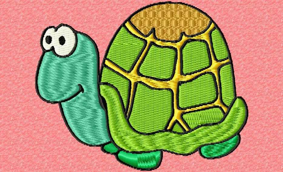une petite tortue verte