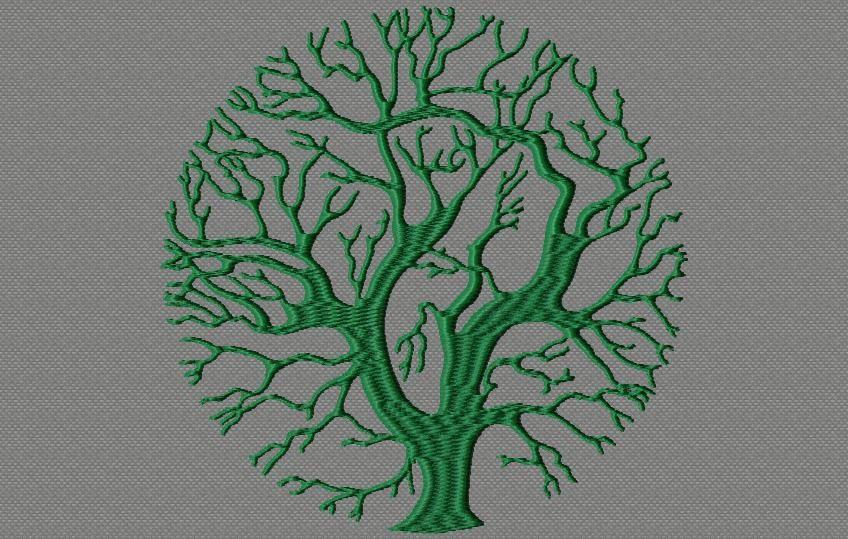 un arbre rond