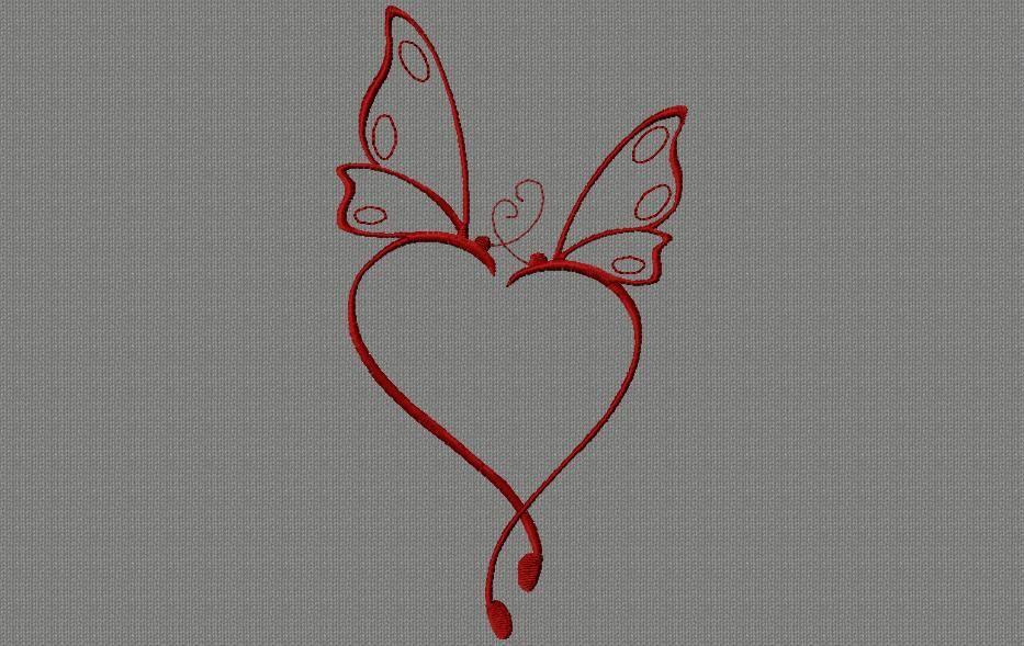 papillon cœur