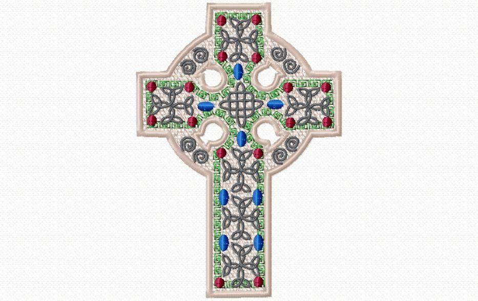 croix celtique en lace