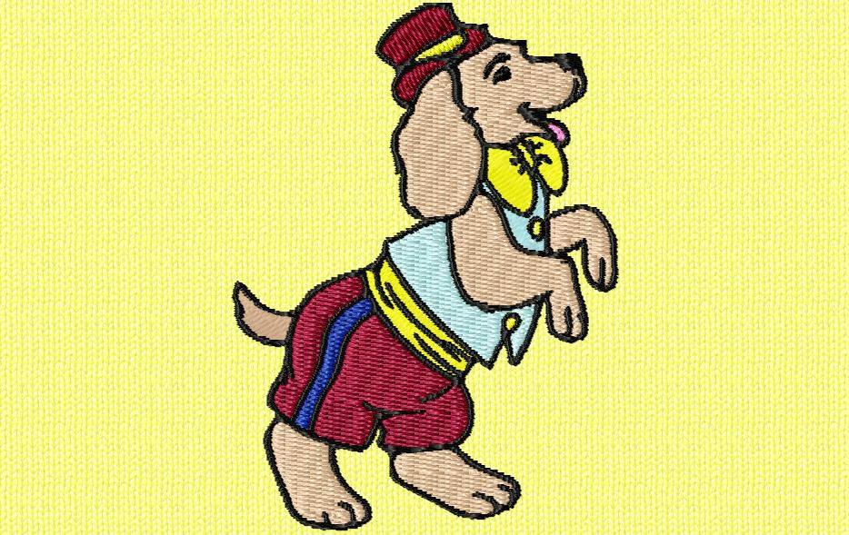 chien de  cirque