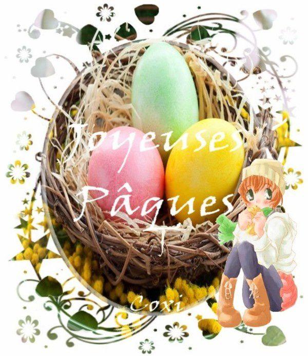 Carte joyeuse Pâques