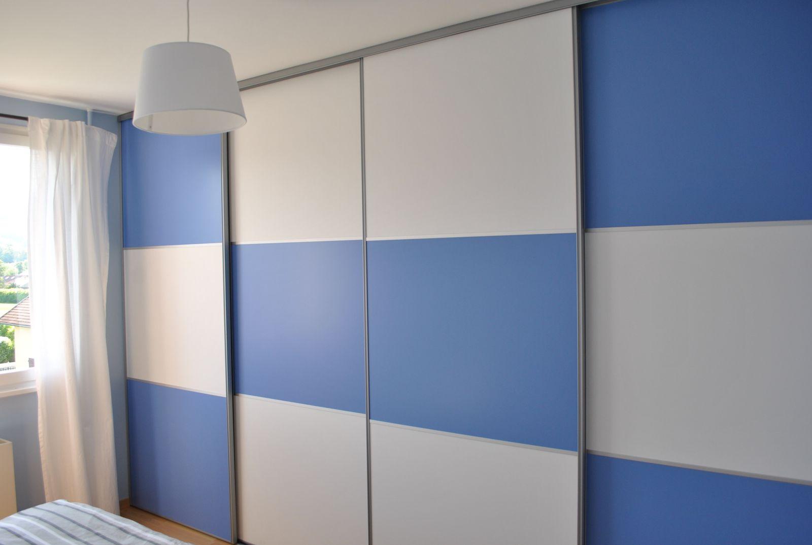 Comment Peindre Une Porte En Pvc portes de placard coulissantes à peindre - les petits
