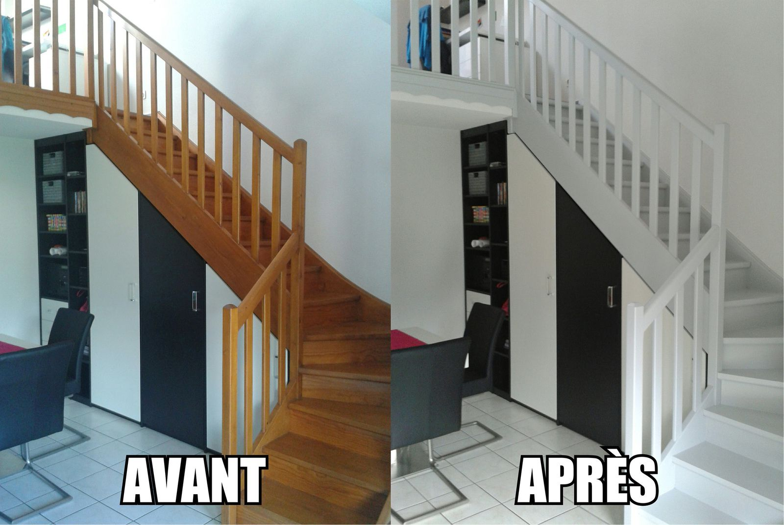 Peinture Pour Escalier Bois peindre un escalier en bois - les petits travaux de flo