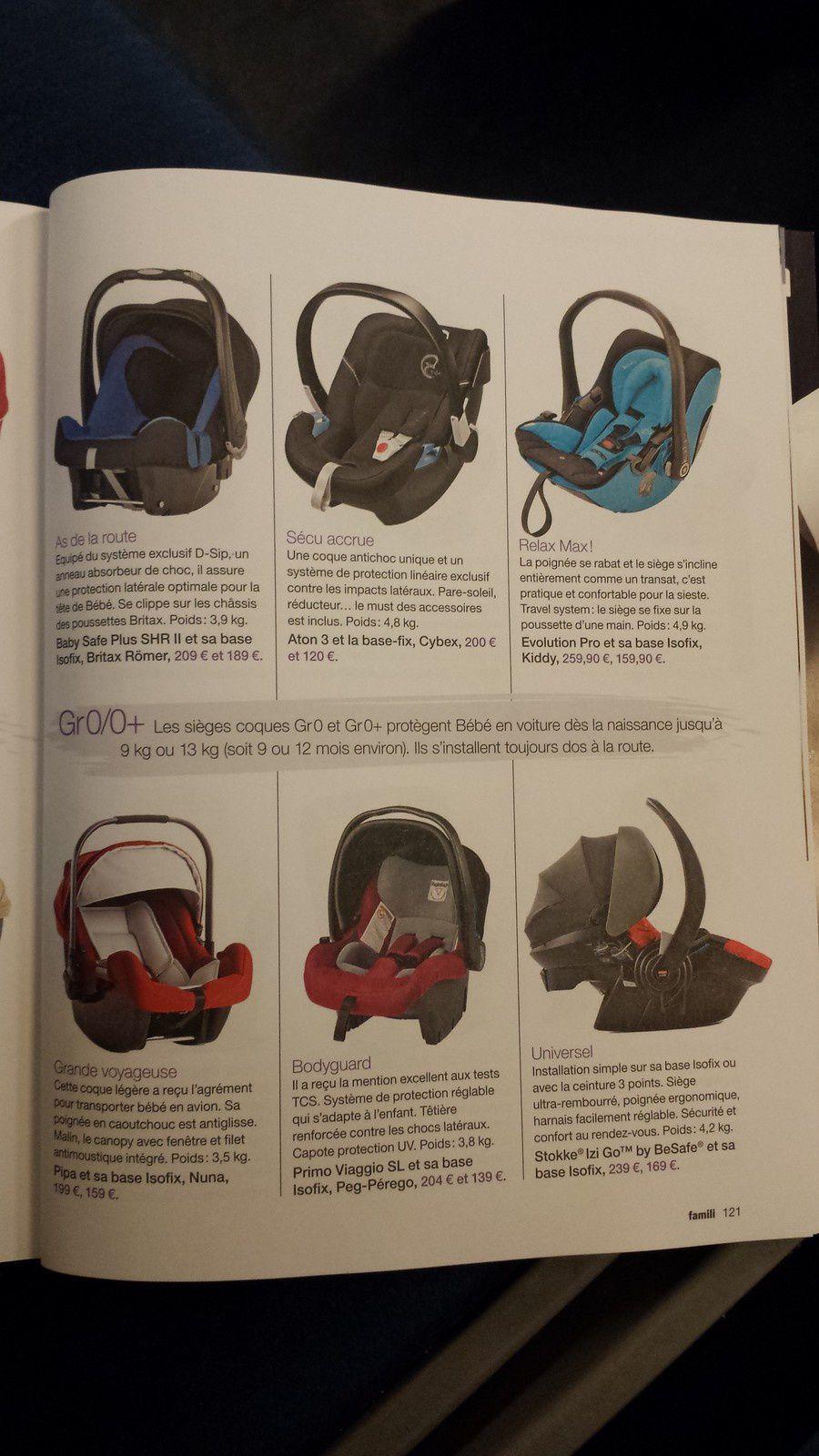 """""""En voiture baby"""" la sélection shopping siéges-auto de famili... à quand un discours plus expert ?"""