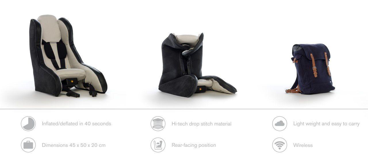 Concept révolutionnaire de siège auto dos à la route gonflable par VOLVO