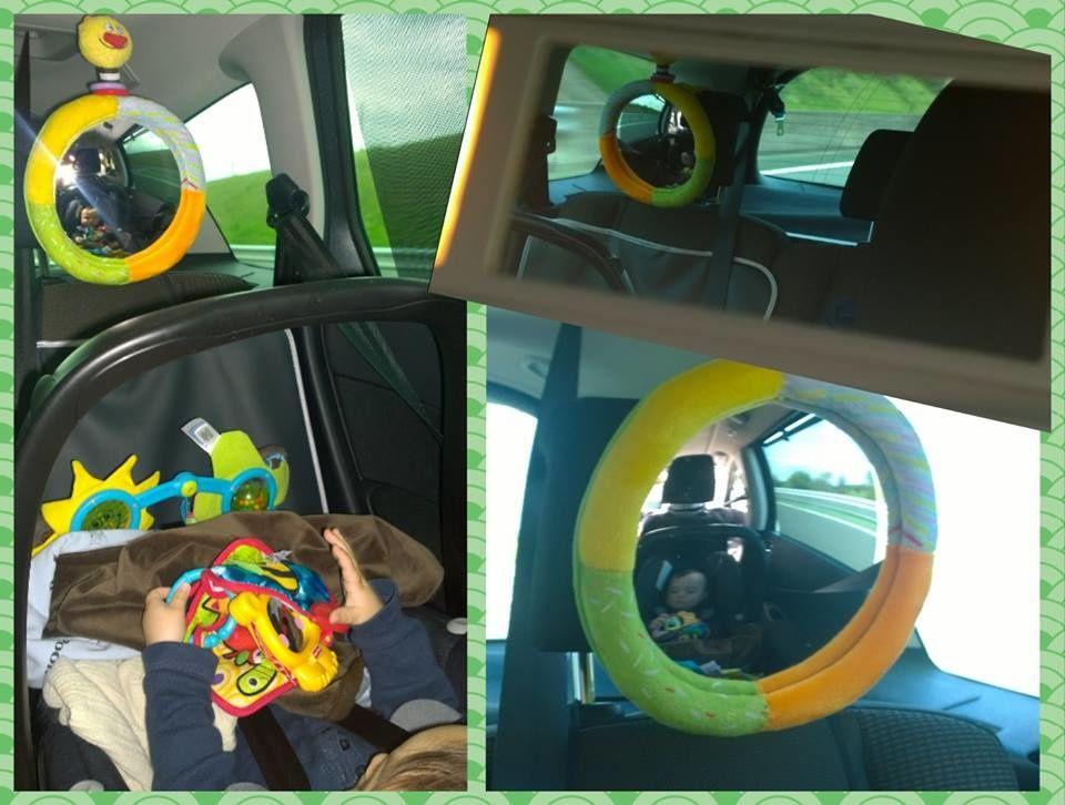 Un miroir pour voir son enfant installé dos à la route
