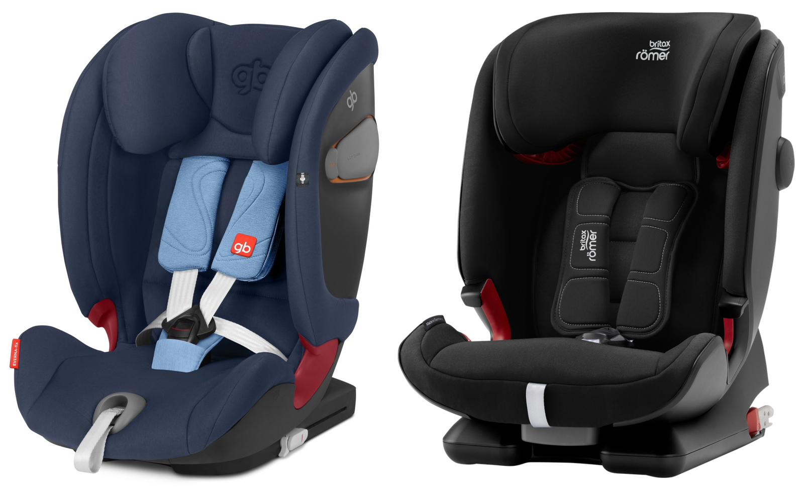 Comparatif GB Everna-fix et Britax Advansafix IV