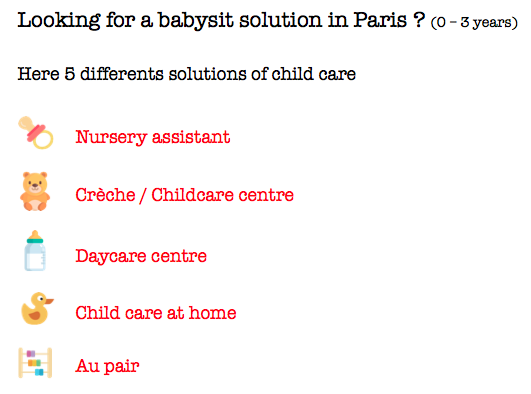 5 child care solutions in Paris (and France)