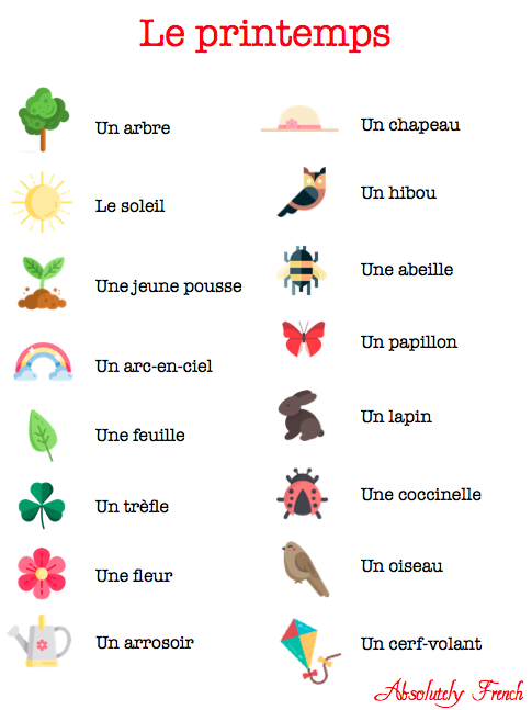 printemps, spring, saison, fleur, fleuraison, bourgeonnement, bourgeon, flowers, sun, soleil, article, Absolutely French, vocabulaire, vocab, vocabulary, french, français, learn french, apprendre le français, cours de français, expats, expat, expatriates, expatriés