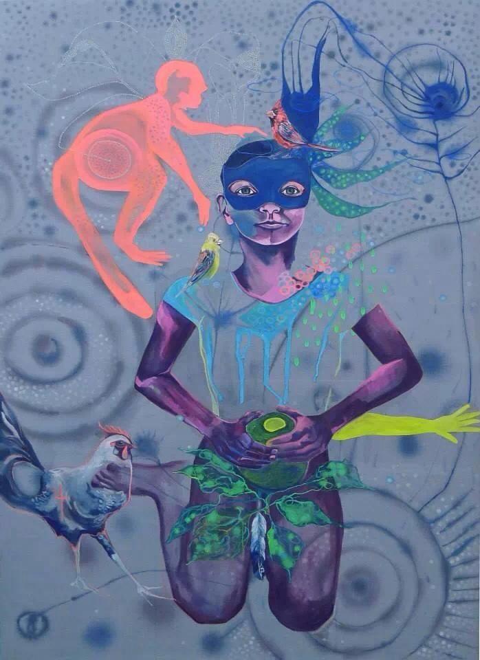 Toile de Claudia Brutus avec NORTY ART et Marcos Mateos