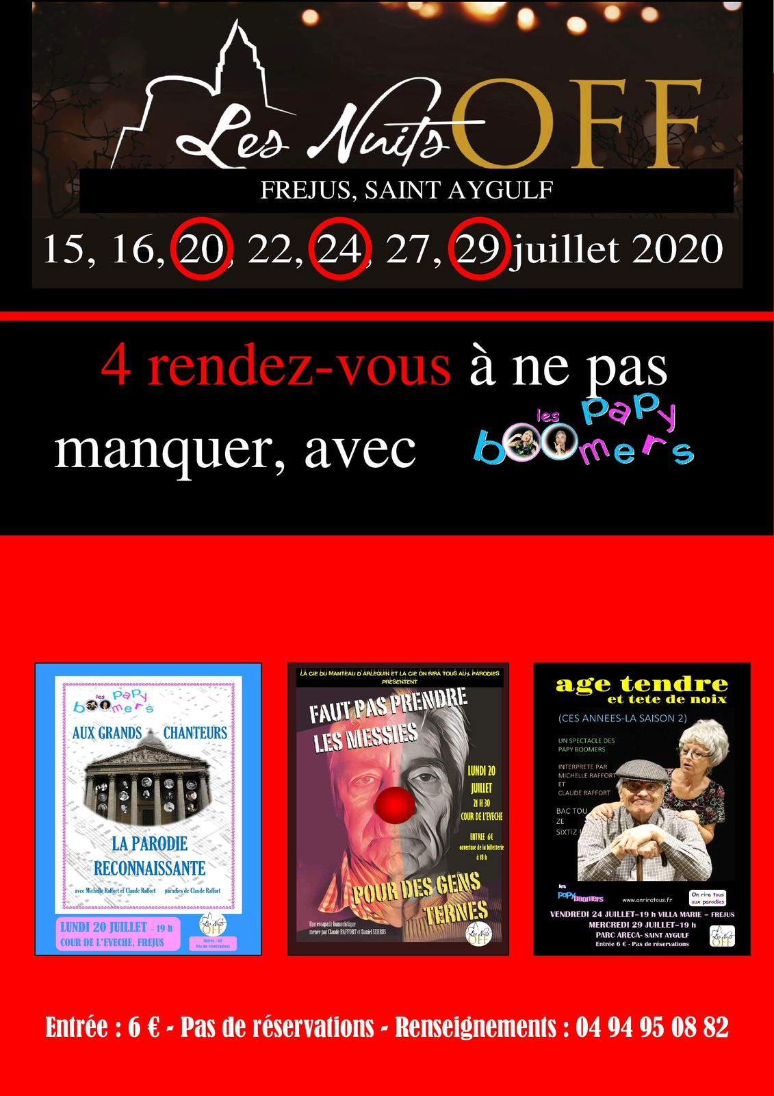 BIENTOT LES NUITS OFF ! LES PAPY BOOMERS REPONDENT PRESENTS