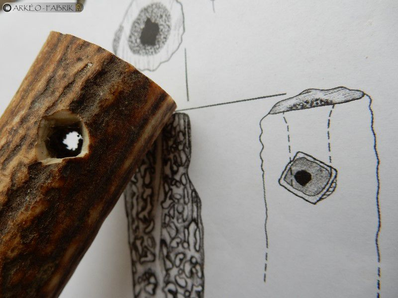 Outil fini, vue rapprochée de la perforation