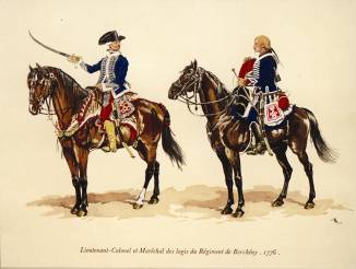Hussards du régiment de Bercheny en 1776