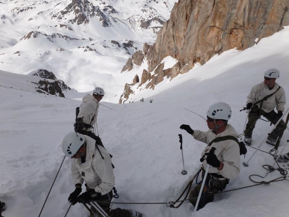 Equipement de passage en neige - photo GAM Armée de Terre