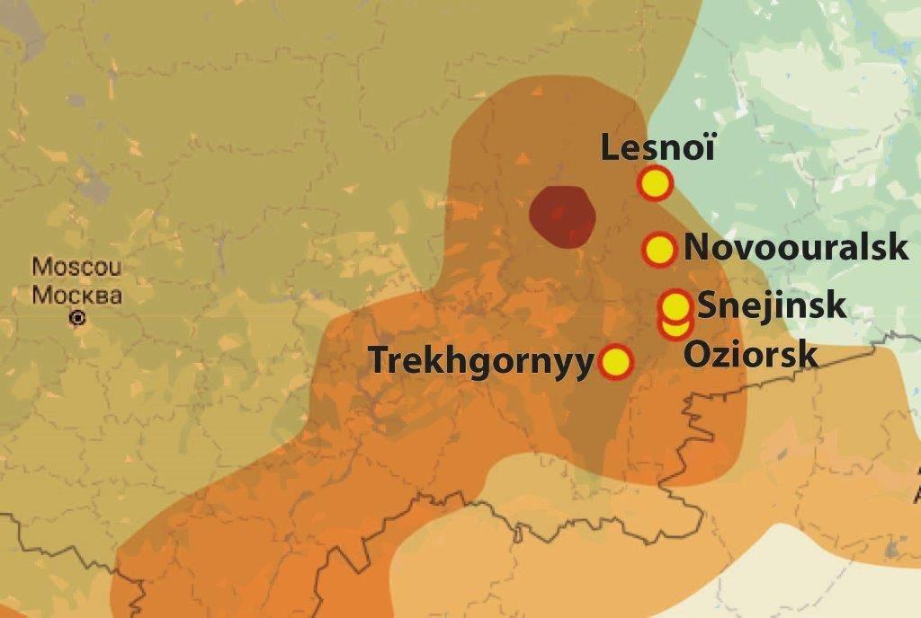 Sites nucléaires de l'oural