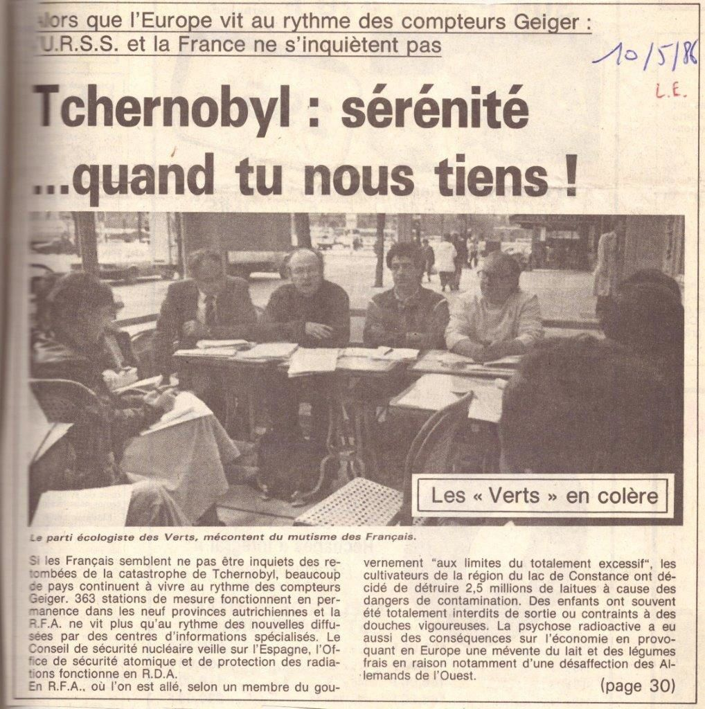 Il y a 32 ans : Tchernobyl